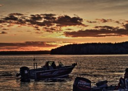 2014 Red Lake Fall Classic - 140 boats leaving the docks
